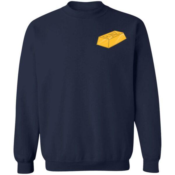 Punz Merch Punz Embroidered Gold Bar Hoodie Sweatshirt